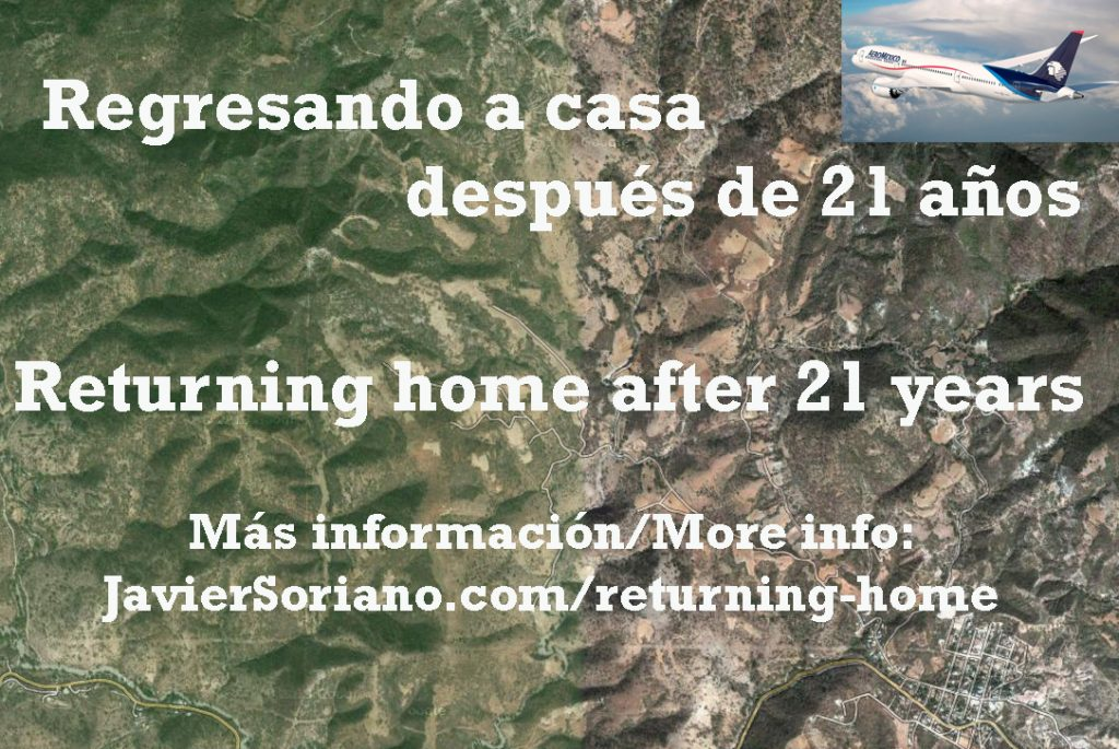Regresando a casa después de 21 años - Returning home after 21 years.