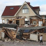 11/4/2012 - A house in Far Rockaway after hurricane Sandy. Photo by Javier Soriano/www.JavierSoriano.com