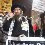 11/20/2012. New York City - A Rabbi speaks in support of Gaza/Palestine.