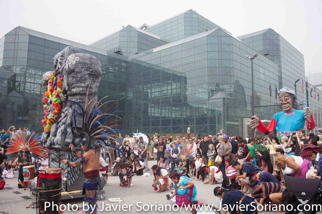 """Domingo, 21 de Septiembre del 2014 - """"Marcha del pueblo por el clima"""". Ciudad de Nueva York."""