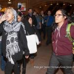 20/11/2014 – Manifestantes en Grand Central, Nueva York en apoyo a los 43 estudiantes de Ayotzinapa, Guerrero, México. Nadie fue arrestada/o. Foto por Javier Soriano/www.JavierSoriano.com