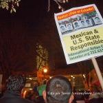 20/11/2014 – Manifestantes frente a las Naciones Unidas en Nueva York en apoyo a los 43 estudiantes de Ayotzinapa, Guerrero, México. Foto por Javier Soriano/www.JavierSoriano.com