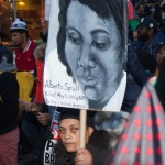 """Saturday, December 13th, 2014. New York City – Today, 12/13/14, was the millions March NYC. The march started at Washington Square Park and ended at One Police Plaza. They """"demand justice for Mike Brown, for Eric Garner, for Akai Gurley, for all those innocent people of color killed by the misuse of police force."""""""