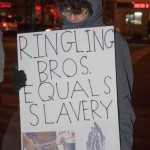 2/19/2015 NYC - Animal-rights activists at the Barclays Center in Brooklyn, protest against the Ringling Bros and Barnum and Bailey Circus for the use and abuse of animals.   Photo by Javier Soriano/http://www.JavierSoriano.com/