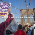 Friday, May 15th, 2015. New York City – Yesterday, Thursday, May 14th, hundreds of people gathered at Foley Square Park in Manhattan to demand stronger rent laws and affordable housing for New Yorkers. After the rally, they marched across the Brooklyn Bridge to Cadman plaza in Brooklyn. Photo by Javier Soriano/http://www.JavierSoriano.com/