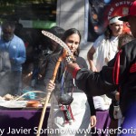 """On Sunday, October 11, 2015, a group of Indigenous people from different indigenous groups gathered at the corner of 59th Street and Central Park in Manhattan, New York, to celebrate the 8th Annual Indigenous Day Of Remembrance. Organizers of the event, said on Facebook """"We remember the sacrifices the Indigenous peoples suffered in 1492 and beyond under the tyranny of Christopher Columbus and those that followed him to the present day. We will never forget their sacrifices and suffering. We remember through storytelling, music, and ceremony."""" Photo by Javier Soriano/http://www.JavierSoriano.com/"""