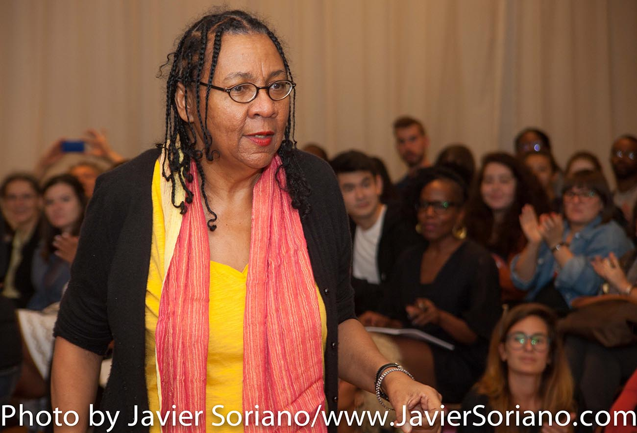 bell hooks is an author, activist, feminist and scholar-in-residence at The New School. This fall is her fifth and final week-long visit in a three-year residency. Photo by Javier Soriano/http://www.JavierSoriano.com/
