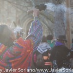 """On Thursday, November 26, 2015, hundreds of Indigenous people and allies gathered at Cole's Hill in Plymouth, Massachusetts to honor Native ancestors. According to the United American Indians of New England, """"it is a day of remembrance and spiritual connection."""" The 46th National Day of Mourning was dedicated to Native American political prisoner, Leonard Peltier. Photo by Javier Soriano/http://www.JavierSoriano.com/"""