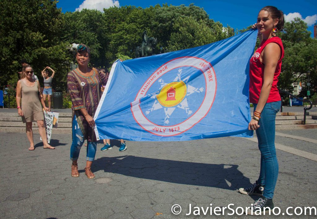 8/07/2016 Union Square, NYC - Rally in support of the Standing Rock Sioux Nation.  Shailene Woodley and other Water protectors. Photo by Javier Soriano/www.JavierSoriano.com