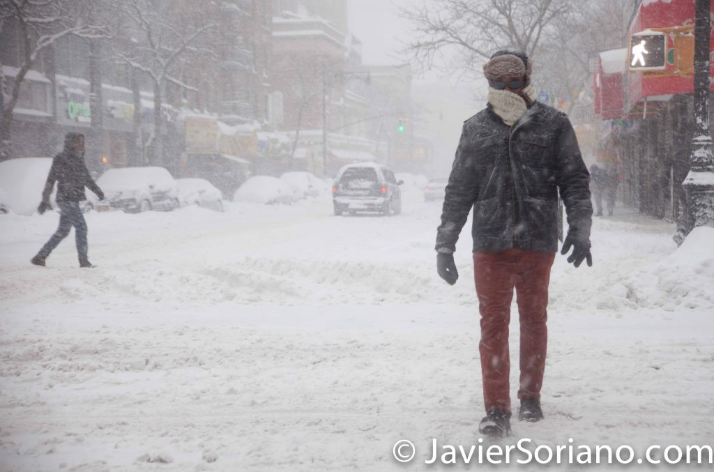 1/23/2016 New York City - It's snowing in NYC. I love snow. We are ready for the Winter! Photo by Javier Soriano/www.JavierSoriano.com