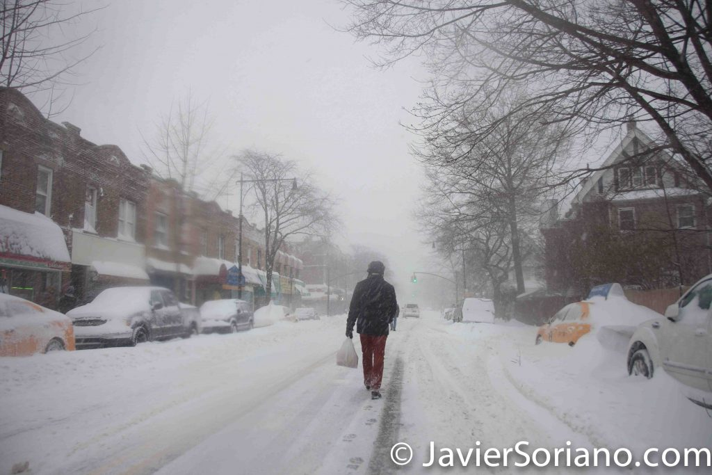 1/23/2016 New York City - It's snowing in NYC and we got authentic Mexican chocolate and Mexican bread. We are ready for the Winter! Photo by Javier Soriano/www.JavierSoriano.com