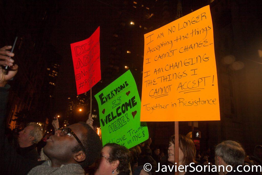 "1/19/2017 NYC - Rally ""We Stand United"". Photo by Javier Soriano/www.JavierSoriano.com"