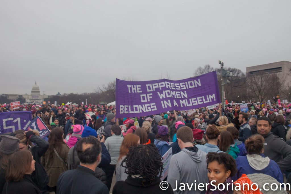 1/21/2017 - Women's March on Washington D.C. Photo by Javier Soriano/www.JavierSoriano.com
