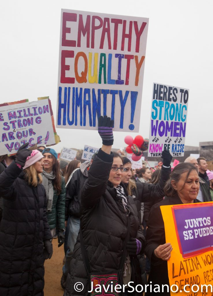 "1/21/2017 - Women's March on Washington D.C.  ""Empathy, Equality, Humanity"" Photo by Javier Soriano/www.JavierSoriano.com"