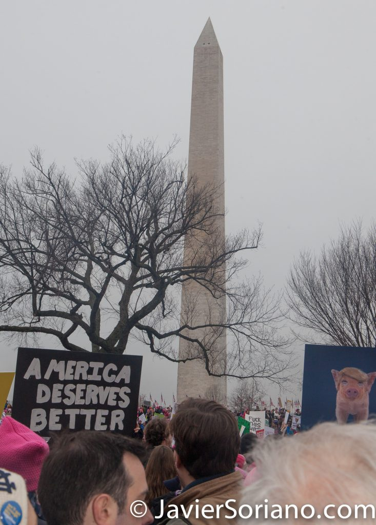 "1/21/2017 - Women's March on Washington D.C.  ""America deserves better."" Photo by Javier Soriano/www.JavierSoriano.com"