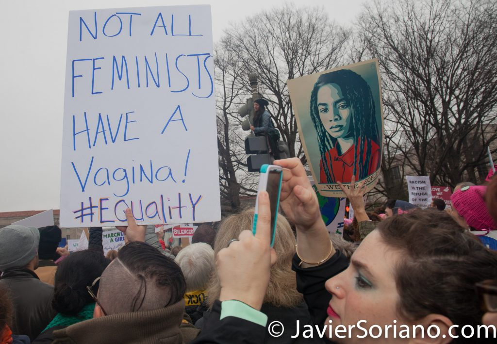 "1/21/2017 - Women's March on Washington D.C.  ""Not all feminists have a vagina. #Equality""  Photo by Javier Soriano/www.JavierSoriano.com"