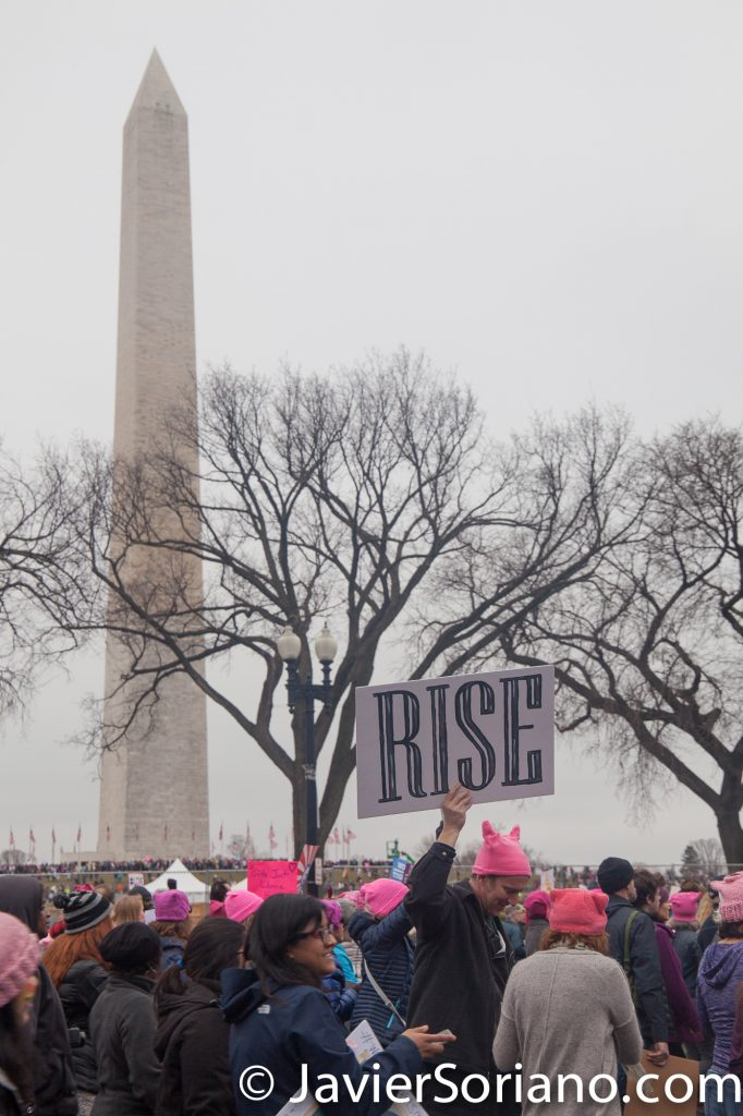 "1/21/2017 - Women's March on Washington D.C.  ""RISE""  Photo by Javier Soriano/www.JavierSoriano.com"