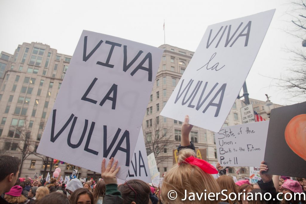 "1/21/2017 - Women's March on Washington D.C.  ""Viva la vulva."" Photo by Javier Soriano/www.JavierSoriano.com"