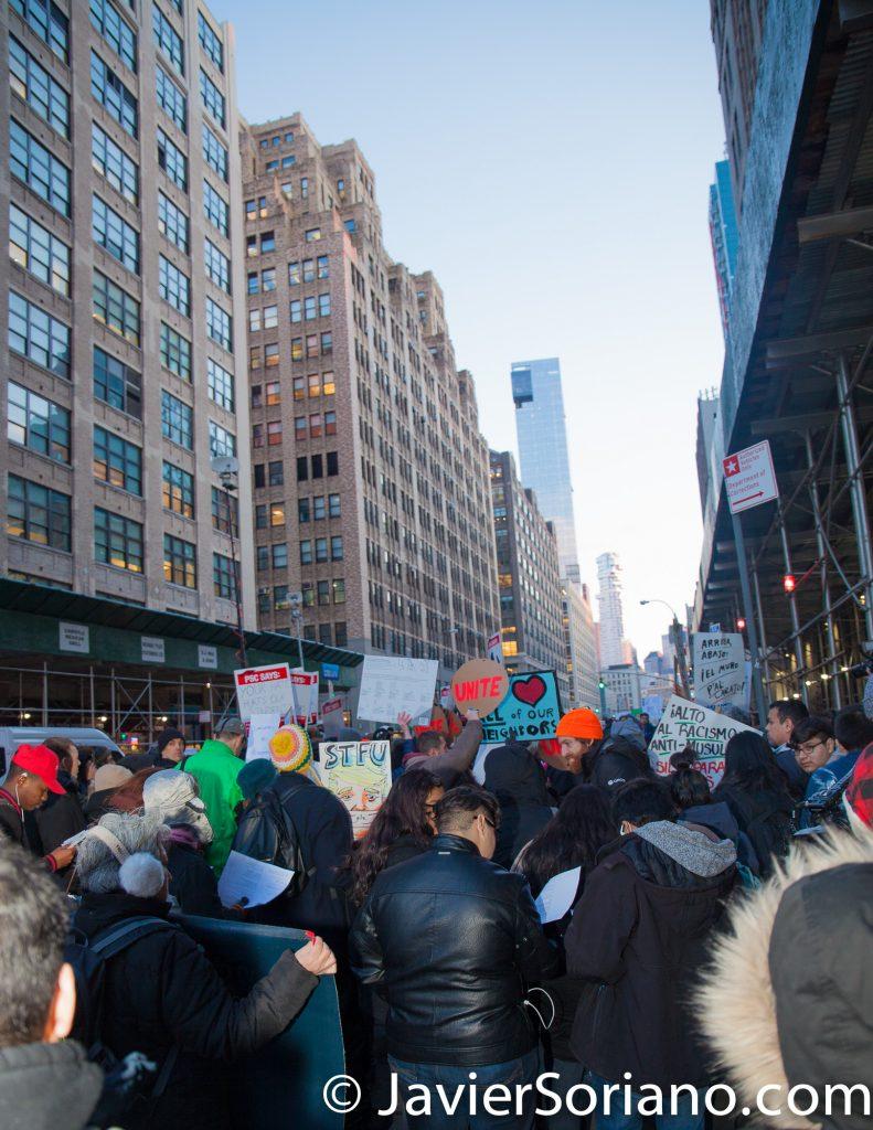 2/16/2017 NYC - Stop ICE raids and Free Daniel Ramirez Medina. Photo by Javier Soriano/www.JavierSoriano.com