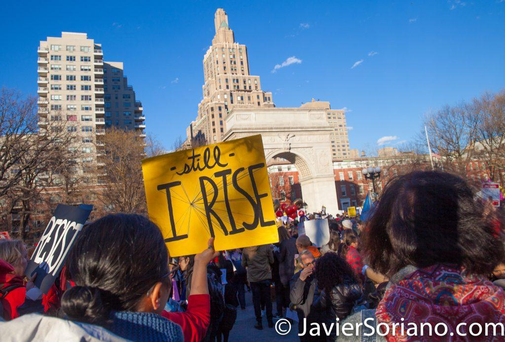 3/8/2017 - International Women's Day in NYC. Photo by Javier Soriano/www.JavierSoriano.com