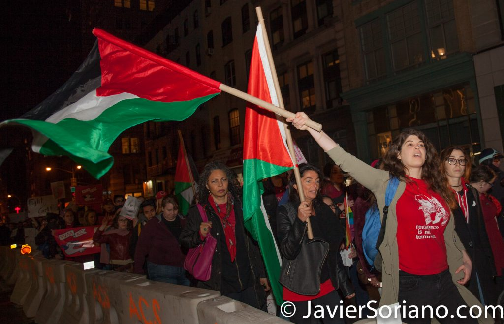 3/8/2017 - International Women's Day in NYC. Thousands of people marching from Washington Square Park to Zuccotti Park. Photo by Javier Soriano/www.JavierSoriano.com