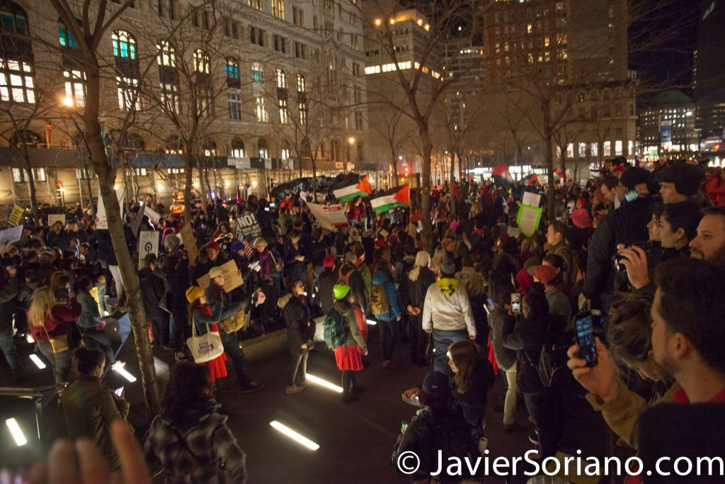 3/8/2017 Zuccotti Park - International Women's Day in NYC. Thousands of people marched from Washington Square Park to Liberty Plaza (Zuccotti Park). Photo by Javier Soriano/www.JavierSoriano.com