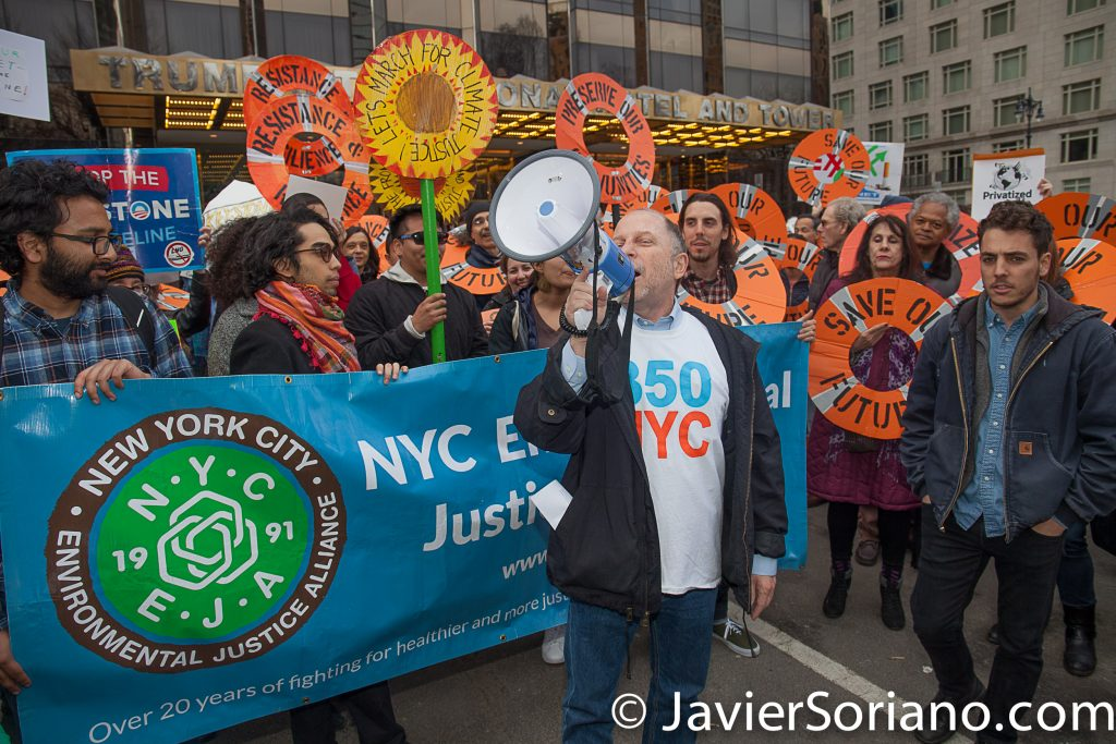 "3/24/2017 New York City - ""rally (and march) to save our planet from KXL and Trump."" Photo by Javier Soriano/www.JavierSoriano.com"