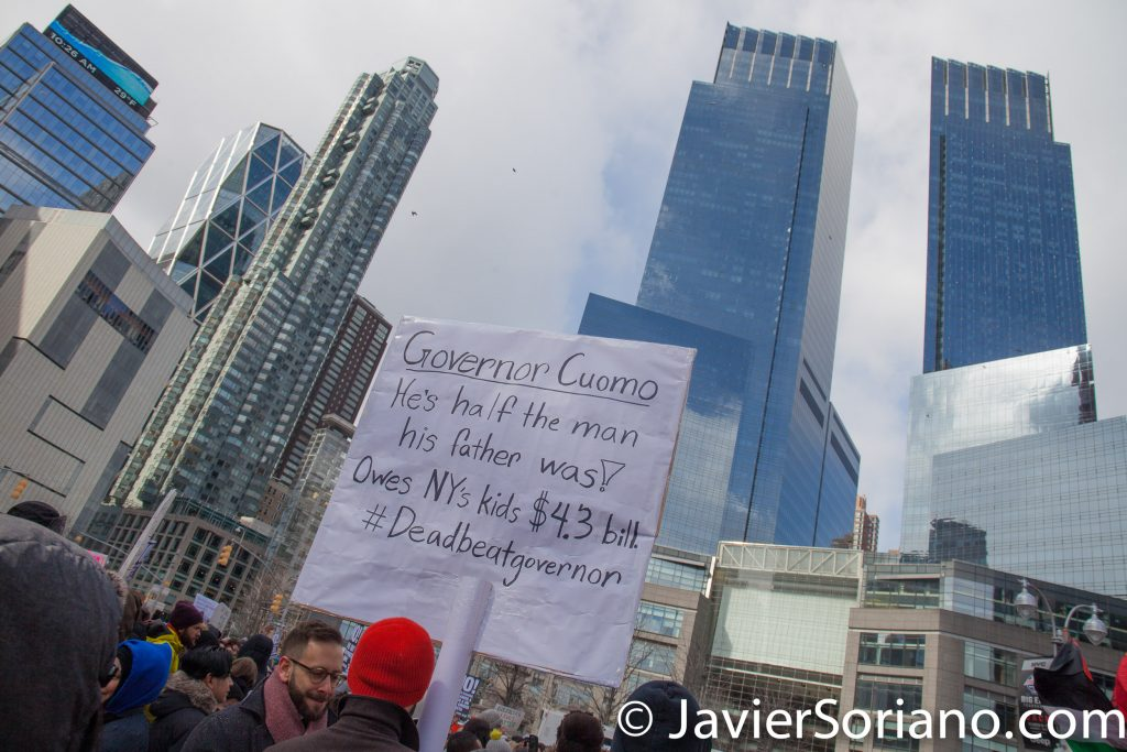 3/4/2017 - People's March for Education Justice in NYC. Photo by Javier Soriano/www.JavierSoriano.com
