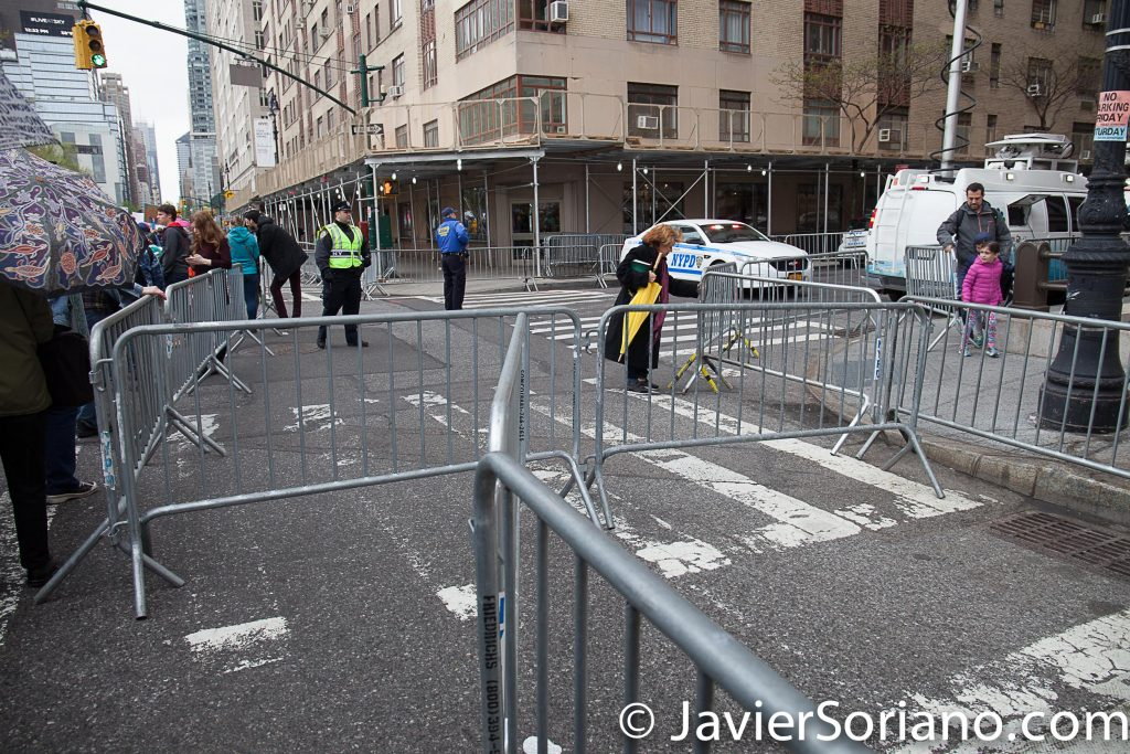 4/22/2017 NYC - March for science. The NYPD had too many barricades. It was like they didn't want people to go to the march. People were not happy about it. Photo by Javier Soriano/www.JavierSoriano.com