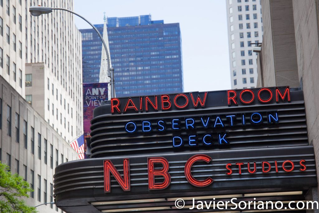 5/15/2017 Manhattan, NYC. Rainbow Room. Observation Deck. NBC studios. Top of the Rock. Photo by Javier Soriano/www.JavierSoriano.com