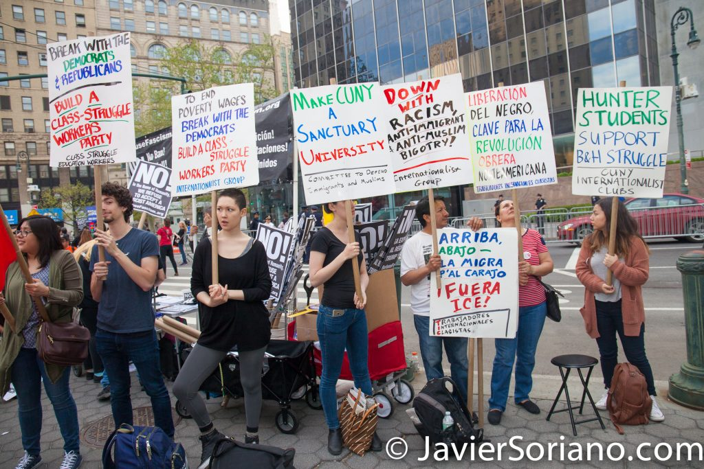 5/01/2017 Foley Square Park, NYC - International Workers' Day (MAYDAY). Photo by Javier Soriano/www.JavierSoriano.com