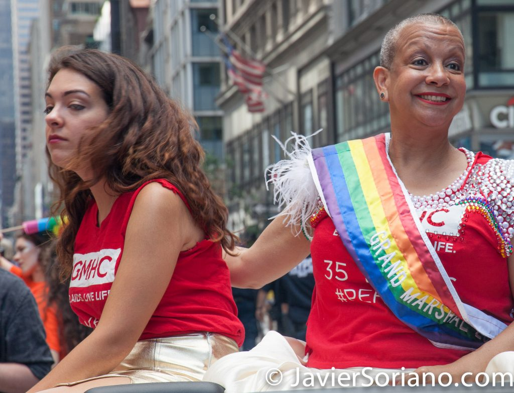 6/25/2017 Manhattan, NYC - Pride March 2017. Grand Marshal. Krishna Stone is the Director of Community Relations at Gay Men's Health Crisis (GMHC). Photo by Javier Soriano/www.JavierSoriano.com