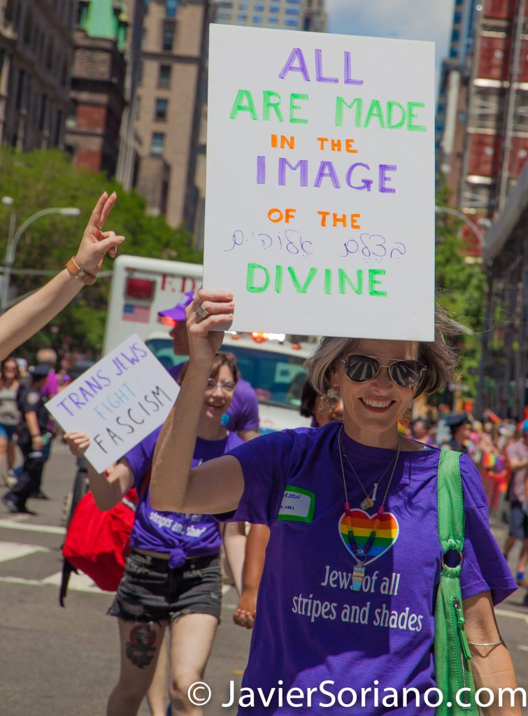 "6/25/2017 Manhattan, NYC - Pride March 2017. ""All are made in the image of the divine."" Photo by Javier Soriano/www.JavierSoriano.com"