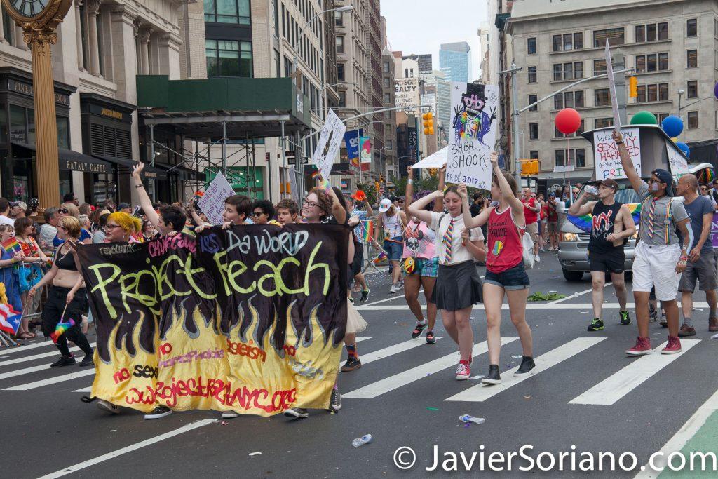 25/6/2017 Manhattan, Nueva York - Marcha del Orgullo LGBTQ 2017. Project Reach. Foto por Javier Soriano/www.JavierSoriano.com