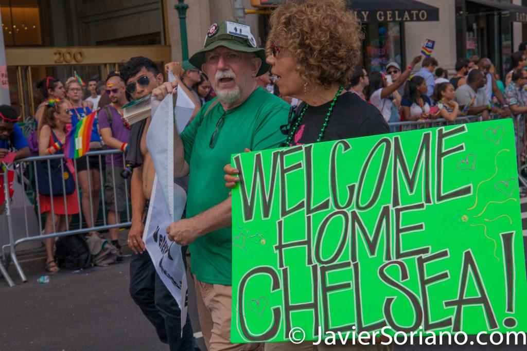 "25/6/2017 Manhattan, Nueva York - Marcha del Orgullo LGBTQ 2017. ""Welcome Home Chelsea (Manning)."" (Bienvenida a casa Chelsea [Manning].) Foto por Javier Soriano/www.JavierSoriano.com"