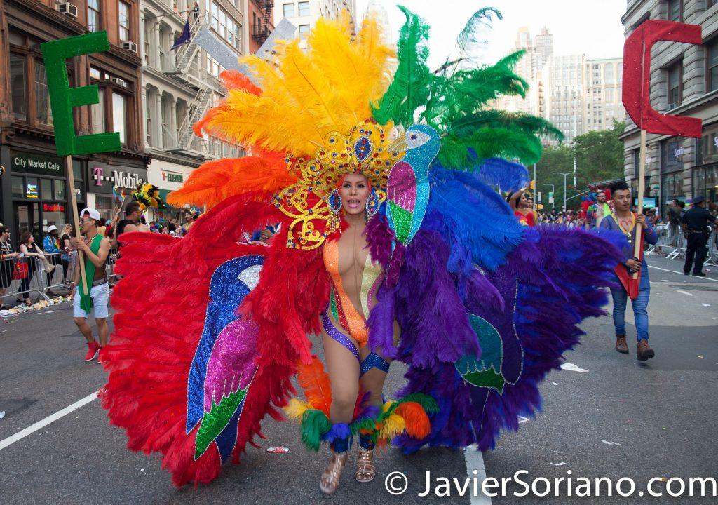 25/6/2017 Manhattan, Nueva York - Marcha del Orgullo LGBTQ 2017. Esta Draga esta representando a México. Foto por Javier Soriano/www.JavierSoriano.com