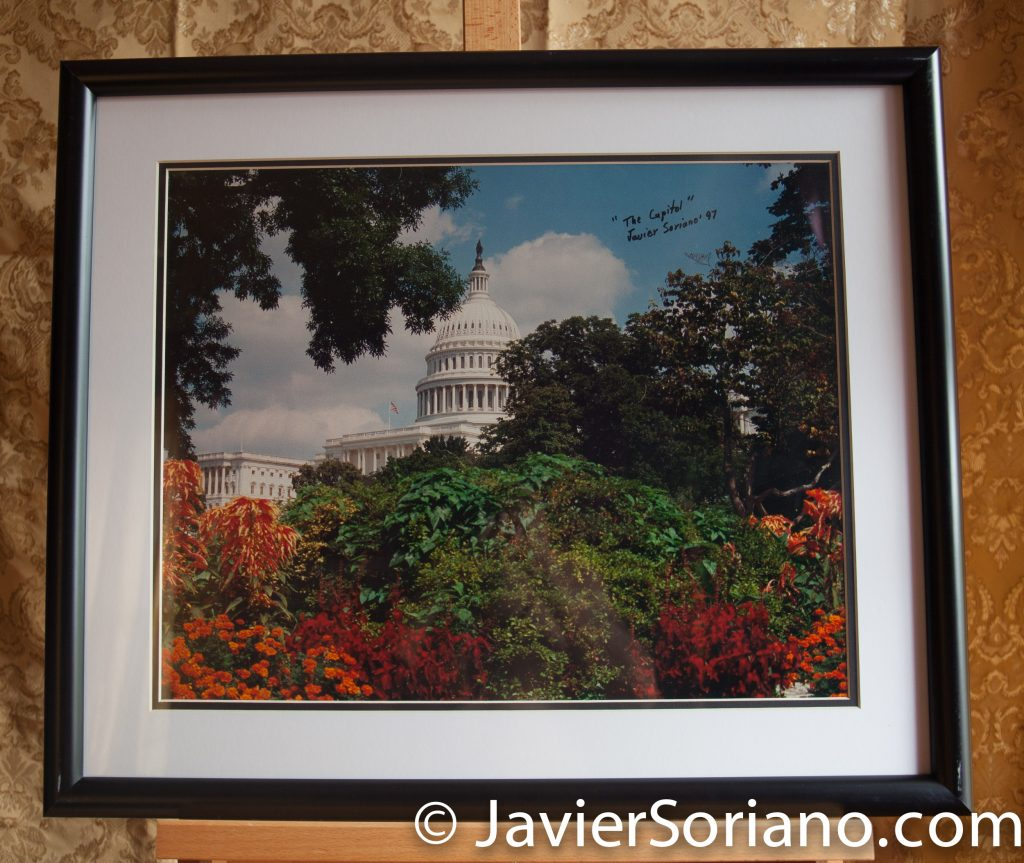 The Capitol. Washington D.C. Original framed photograph by Javier Soriano. Size: 20x24.