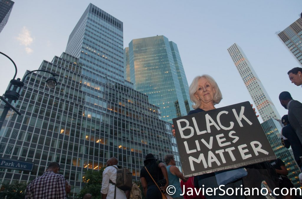 8/23/2017 NYC - People supporting Colin Kaepernick. Photo by Javier Soriano/www.JavierSoriano.com