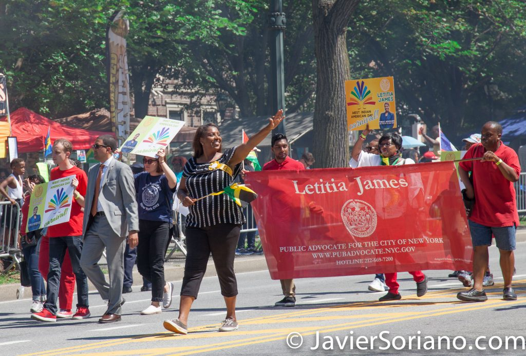 "9/4/2017 Brooklyn, NYC - 50th Anniversary West Indian American Labor Day Parade. ""Letitia James. Public Advocate for the City of New York."" Photo by Javier Soriano/www.JavierSoriano.com"