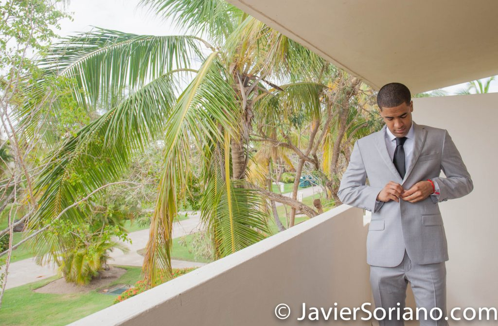 9/15/2017. Melia Coco Beach Resort. Rio Grande. Puerto Rico. Groom getting ready for his wedding. Today is a very special day. A beautiful couple is having their wedding today. We traveled from New York City to Puerto Rico for their special occasion. Are you having your wedding in NYC, Puerto Rico, Trinidad & Tobago, Mexico, etc.? I can be your photographer or videographer. I live in New York City. I can travel. Photo by Javier Soriano/www.JavierSoriano.com