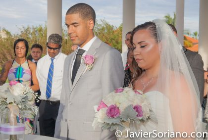9/15/2017. Melia Coco Beach Resort. Rio Grande. Puerto Rico. A beautiful couple is having their wedding. A beautiful day for a beautiful wedding. Are you having your wedding in NYC, Puerto Rico, Trinidad & Tobago, Mexico, etc.? I can be your photographer or videographer. I live in New York City. I can travel. Photo by Javier Soriano/www.JavierSoriano.com