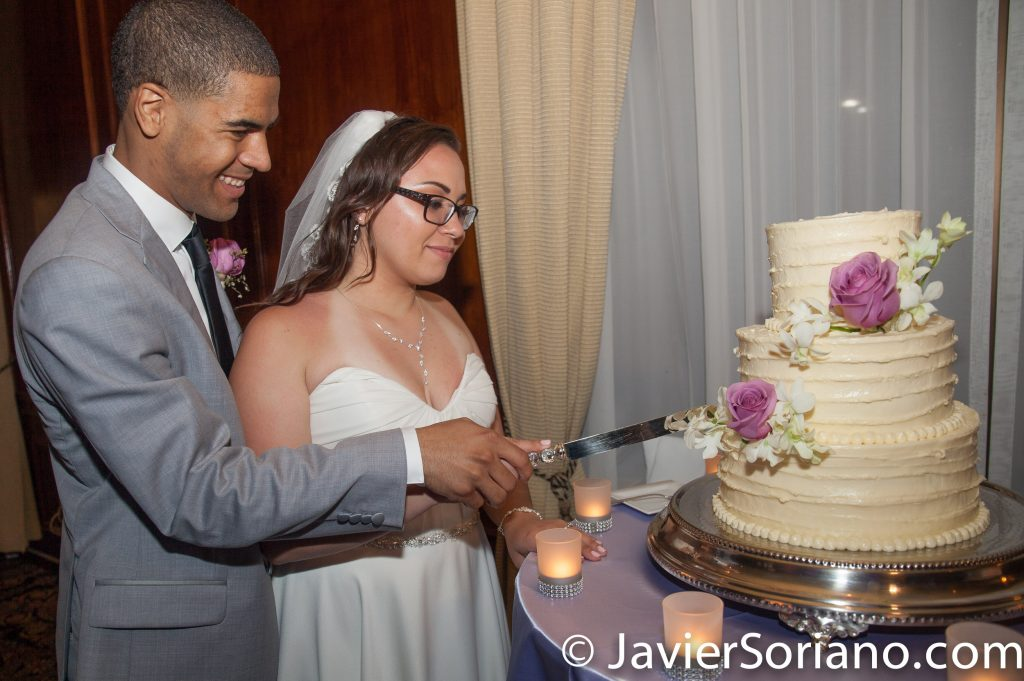 9/15/2017. Melia Coco Beach Resort. Rio Grande. Puerto Rico.  A beautiful couple had their wedding today. It's time to cut the cake!   Are you having your wedding in NYC, Puerto Rico, Trinidad & Tobago, Mexico, etc.? I can be your photographer or videographer. I live in New York City. I can travel.  Photo by Javier Soriano/www.JavierSoriano.com