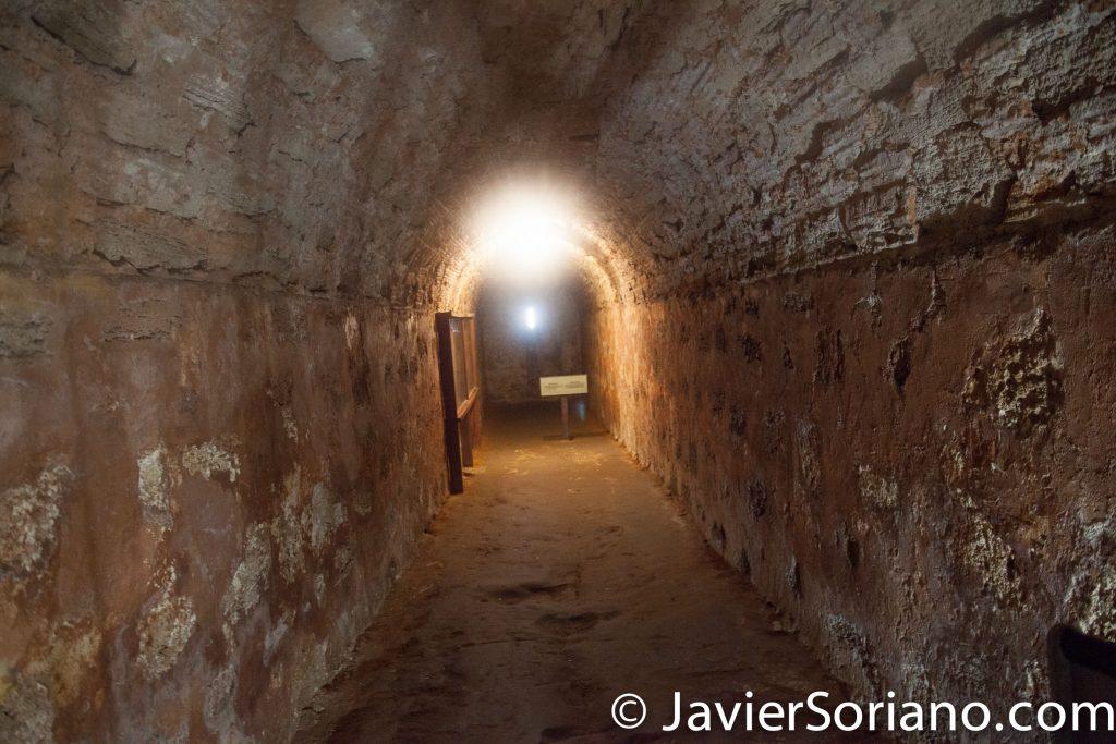9/16/2017. Castillo San Cristóbal, Puerto Rico. Tour in the underground tunnels. Photo by Javier Soriano/www.JavierSoriano.com