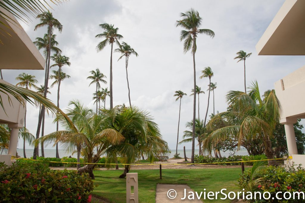 9/13/2017. Rio Grande. Puerto Rico.  The Melia Coco Beach Resort closed this area because it was affected by hurricane Irma.   Photo by Javier Soriano/www.JavierSoriano.com