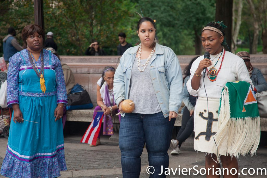 10/15/2017 New York City - 10th Annual Indigenous Day of Remembrance. Photo by Javier Soriano/www.JavierSoriano.com