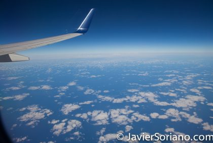9/13/2017 -Flying over the Atlantic Ocean. Volando sobre el Océano Atlántico. Photo by Javier Soriano/www.JavierSoriano.com
