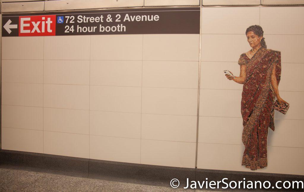 1/1/2017. Manhattan, NYC - Today was the opening of the new Second Avenue Subway.  Manhattan, Ciudad de Nueva York - Hoy fue la apertura del nuevo metro de la Segunda Avenida.  Photo by Javier Soriano/www.JavierSoriano.com