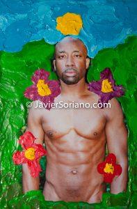 Size: 6×4. Tamaño: 6×4. Mixed media on canvas: Nude photograph and acrylic painting. Técnica mixta sobre lienzo: Fotografía de desnudo y pintura acrílica. Buy this artwork. Compra este trabajo de arte.