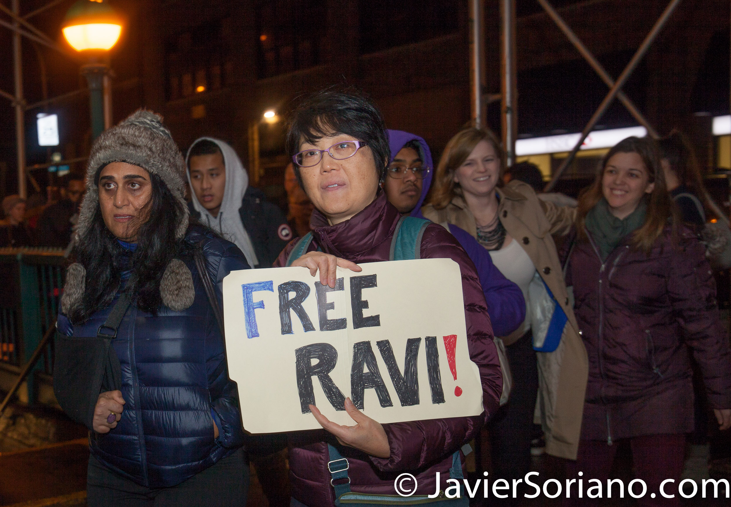 "1/11/2018 201 Verick Street. Immigration detention center. Manhattan, New York City - Jericho Walk in support of Ravi Ragbir. ""On January 11, 2018, Ravi Ragbir, a nationally recognized immigrant rights leader and Executive Director of the New Sanctuary Coalition of New York City, was detained while reporting to U.S. Immigration and Customs Enforcement (ICE) for a routine check-in.""_Ravi defense team Photo by Javier Soriano/www.JavierSoriano.com"