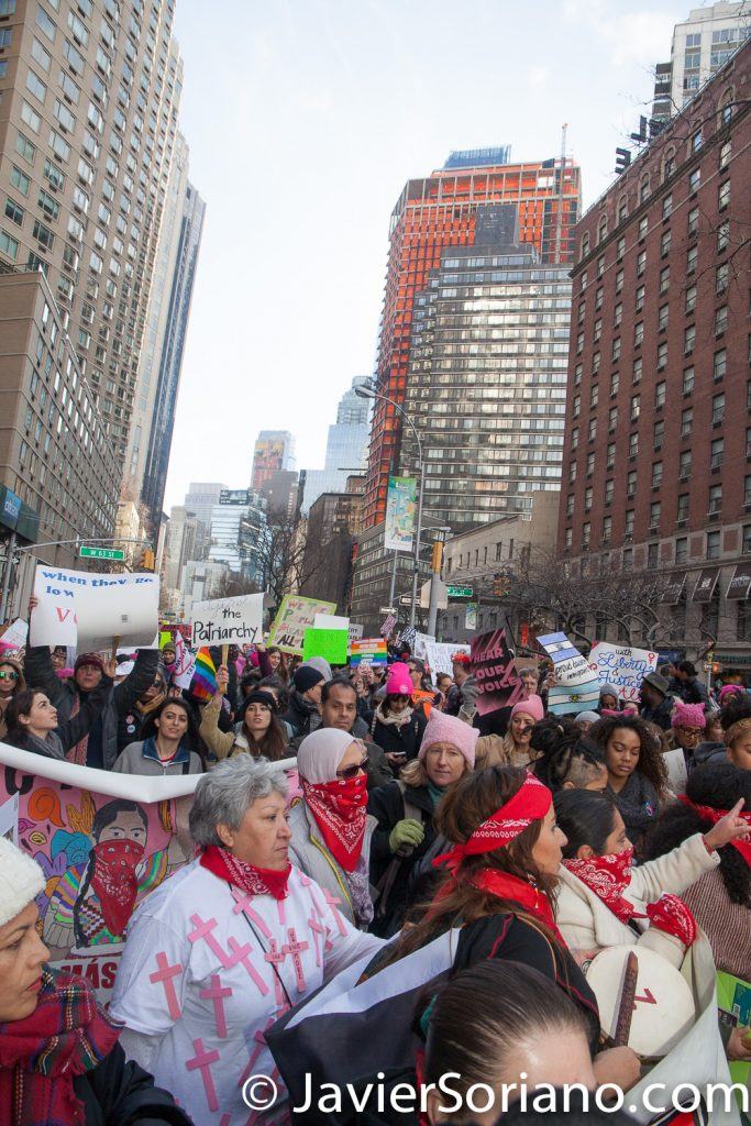 1/20/2018. Manhattan, NYC - Women's March. Thousands of people attended the rally and march.  Photo by Javier Soriano/www.JavierSoriano.com
